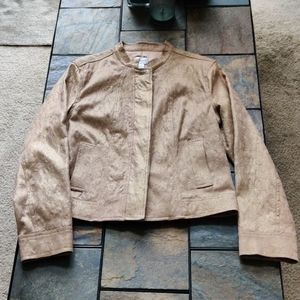 Chicos brand Gold Embroidered Detail Jacket 1